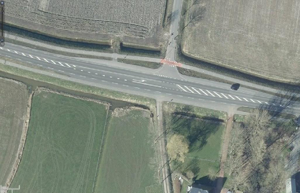 Fietsoversteekplaatsen Provincie Groningen